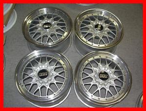 JDM BBS RS2 II wheels rims large caps 17x8 17x9 5x114.3 volk ccw