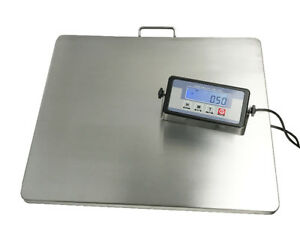 "Brand New Platform 22""x18"" Stainless Steel 400lb Shipping Scale"