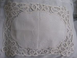 ANTIQUE DOILIES EMBROIDERY LACE OF LUXEUIL