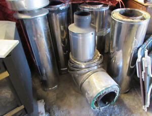 """5 FULL LENGHT INSULATED STOVE PIPE 8"""" inside"""