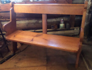 Antique Pine Bench 46 Inches Long All Original in Good Condition