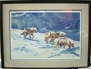 Racing the Storm Arctic Wolves print by John Seerey Lester