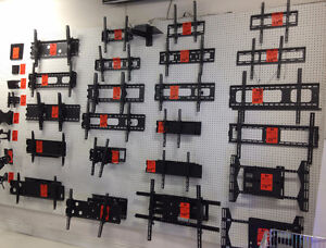 FLAT, TILTING, CEILING AND FULL-MOTION TV WALL MOUNTS