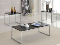 Black and Silver Coffee Tables and End Tables