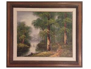 "Vintage Painting/Peinture ""Woods"""