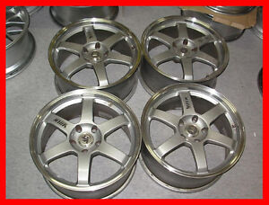 VOLK TE37 18x8.5 5x120 Forged wheels rims BMW E36 E46 M3 E92 bbs