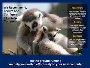 We Recommend, Secure and Configure Your New Computer