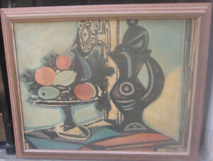 Mid Century Modern Reproduction of Picasso Painting