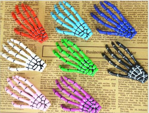 2x Women Halloween Punk Hairpin Zombie Skeleton Hand Bone Claw Horror Hair Clip