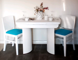 Mid Century Art Deco Style Dining Table & 4 Chairs - Beautility 1960