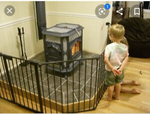 ISO: Baby Gate for corner woodstove
