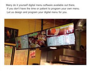 Digital Menu Sign