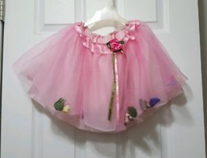 Dance Flower Filled Tulle Skirt Ballerina Size 5-6T
