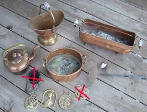 Copper and brass items - HUGE PRICE DROP