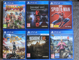 PS4 Jumanji Spiderman Outer Worlds Resident Evil Farcry Playstation 4