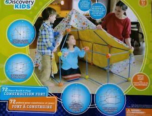 NEW: Discovery Kids 72 Pc Construct Fort Tent Tunnel Playhouse