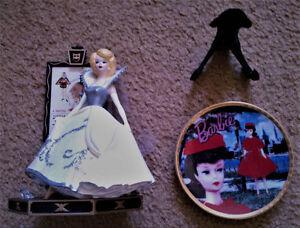 1995 Cinderella BARBIE Figurine & 1993 Red Flare BARBIE Plate