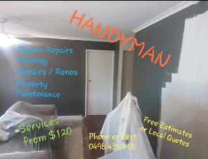 Handyman / Property Maintenance / Plaster and Painting Repairs Marsden Logan Area Preview
