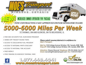 TEAM Fast Approved Dedicated Route Available