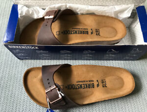 NEW Birkenstock Madrid Habana Sandals Size 37
