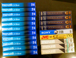 Used reusable VHS TAPES