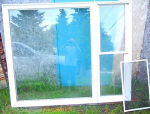 """Thermal vinyl window with side that open with screen L72""""x H 59"""""""