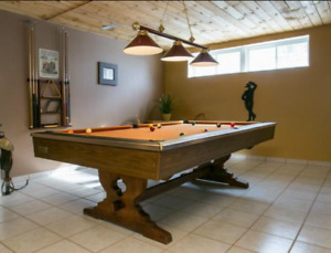Vintage + real wood base + 3 slate + Brunswick Pool table