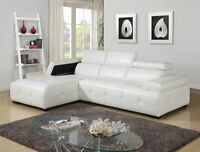 $999 - WHITE SECTIONAL DELUXE – free delivery
