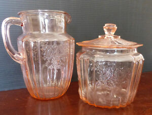 Vintage Pitcher and Cookie Jar