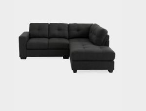 Grey Sectional Sofa - Sofa sectionnel gris