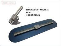 """MarshallTown Big Blue Glider Concrete Bull float 36"""" Bracket 3 x Poles bullfloat"""