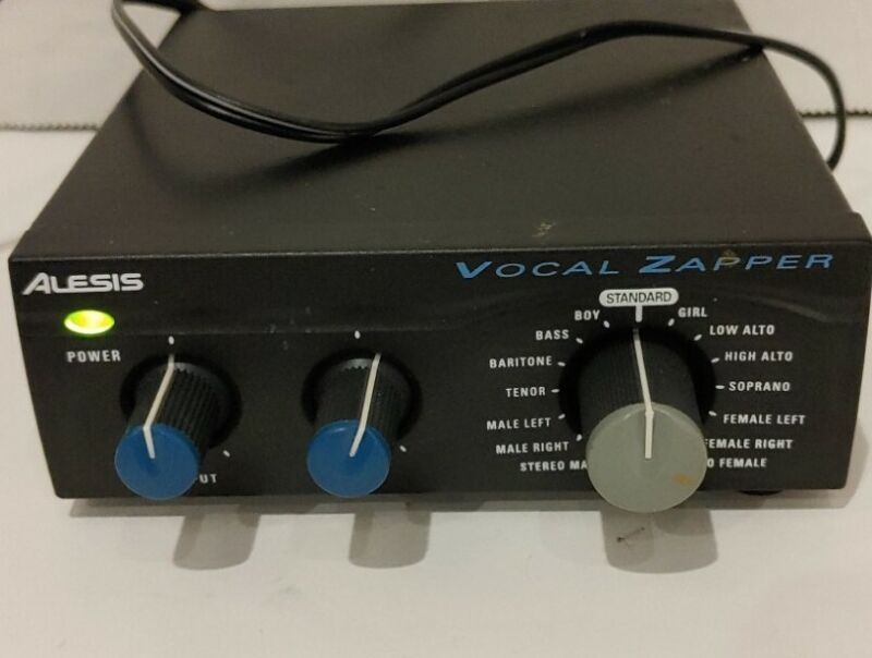 Alesis Vocal Zapper Ultra Compact Digital Vocal Reduction - With Power Supply