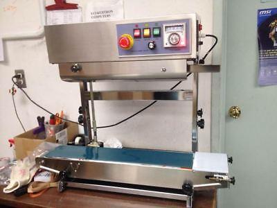 Vertical Fr-900v Automatic Desktop Continuous Plastic Bag Band Sealer Machine