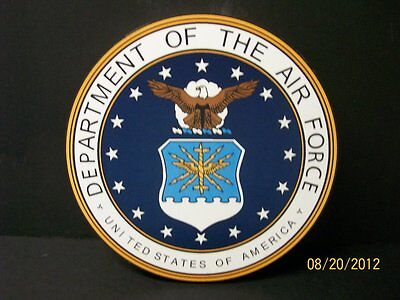 UNITED STATES AIR FORCE MILITARY  WALL PLAQUE