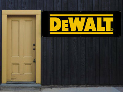 Dewalt Power Tools Vinyl Banner 2x5 13 Oz. Garage Or Any Event Ready To Hang