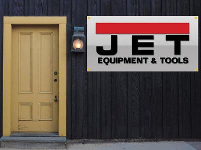 Jet Tools Equipment Vinyl Banner 2x4 Garage Or Trade Shows Ready Hang 13 Oz.