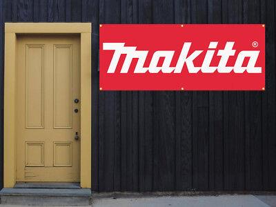 Makita Power Tools Vinyl Banner 2x5 13 Oz. Garage Or Trade Shows Ready Hang