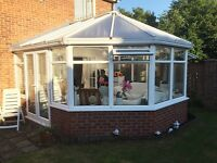 Large Conservatory - Victorian style, built on a dwarf wall, very good condition.