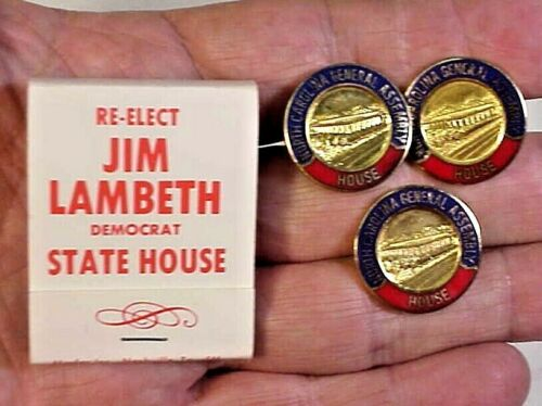 North Carolina General Assembly, House Pin & Cuff Links -belonged to Jim Lambeth