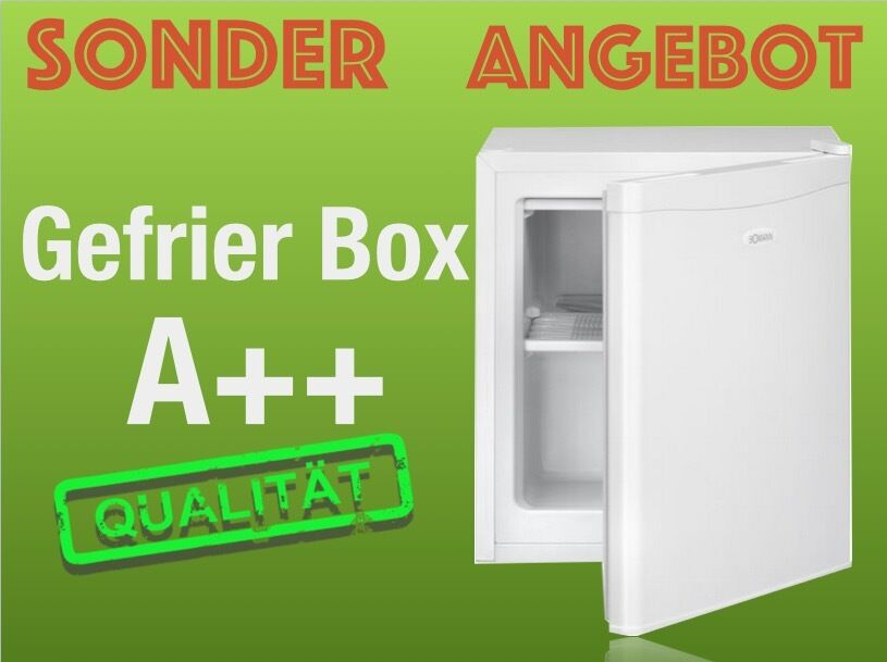 bomann single b ro gefrierbox gb 388 a nutzinhalt 30 farbe eur 89 00. Black Bedroom Furniture Sets. Home Design Ideas