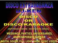 MOBILE WEDDING DISCO WITH DJKEN of DISCO-EXTRAVAGANZA NOTTINGHAM DERBYSHIRE