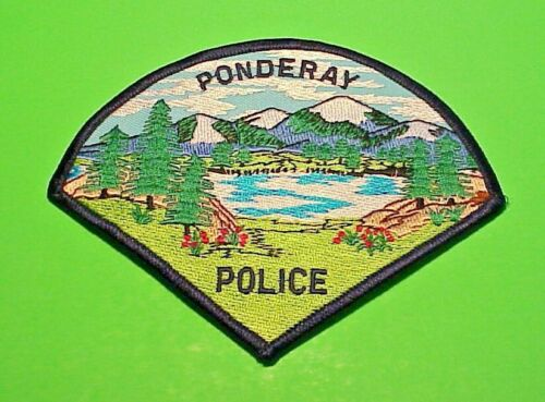 "PONDERAY  IDAHO  ID  4 1/2""  POLICE PATCH  FREE SHIPPING!!!"