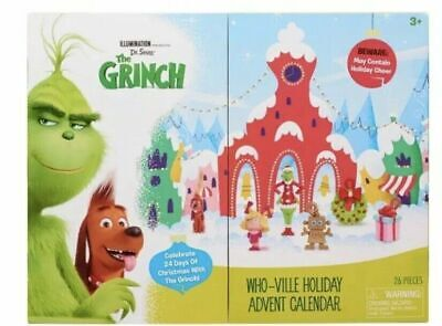 Dr. Seuss THE GRINCH HOLIDAY ADVENT CALENDAR Who-Ville Christmas Count Down #