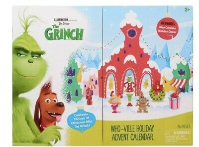 Dr Seuss' The Grinch Who-Ville Christmas Holiday Advent Calendar, New, Sealed