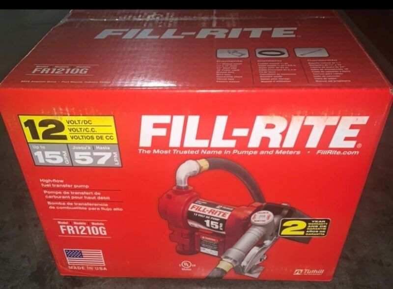 FILLRITE FR1210H 12V DC 15GPM Fuel Transfer Pump with Manual Nozzle