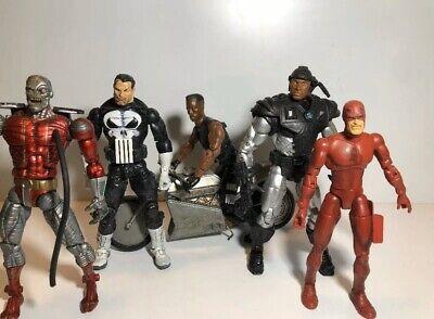 Toybiz Marvel Knights Marvel Legends Figures Lot Of 5 Punisher Daredevil Blade