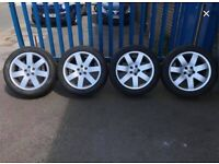 """**4 x 20"""" Land Rover Range Rover Alloy Wheels With Tyres - Sport Vogue VW Transporter**"""