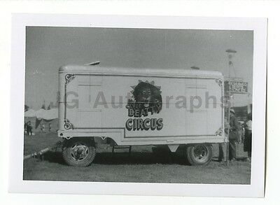 Clyde Beatty Circus - Vintage Snapshot - Ticket Booth Wagon (Carnival Ticket Booth)