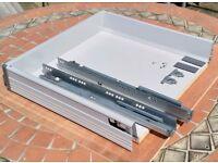 Blum Tandembox soft close drawers.