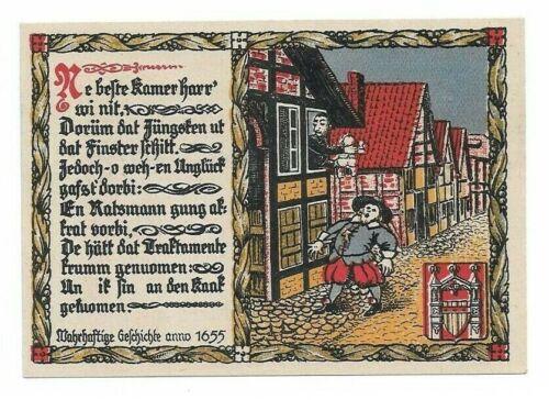 **1921 BRAKEL Germany- DEFECATING BABY ~ RARE Anti-Semitic UNC Notgeld Banknote